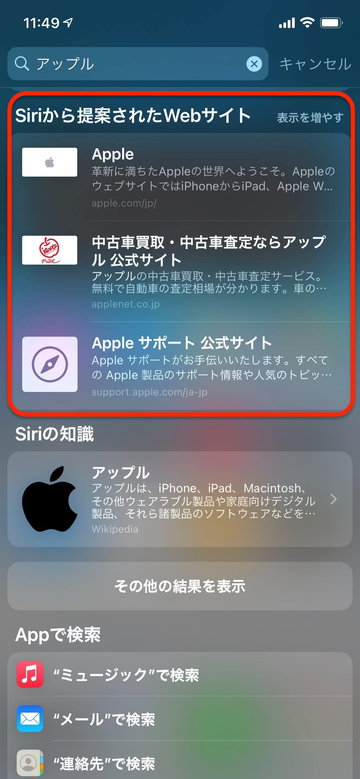 アップル_独自検索エンジン
